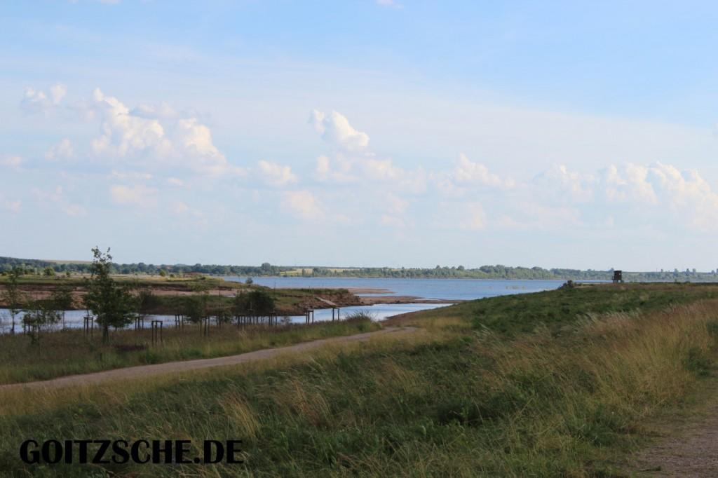 Hochwasser Nähe des Wehr Lober Leine Kanal